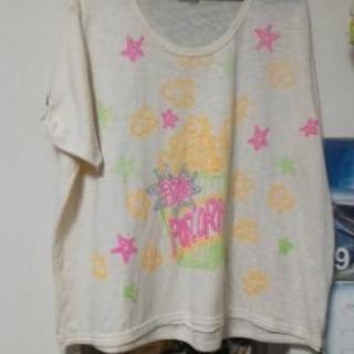 【物々交換OK‼】rough ポップコーン ゆったりTシャツ
