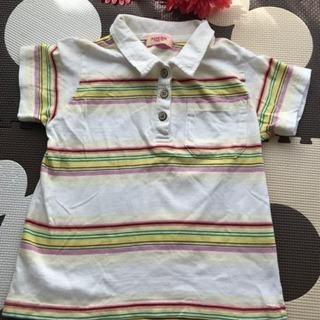 カラフルボーダーポロシャツ110