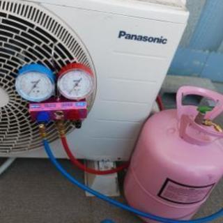 安くエアコン修理ガス補充  大阪エアコンヘルパー