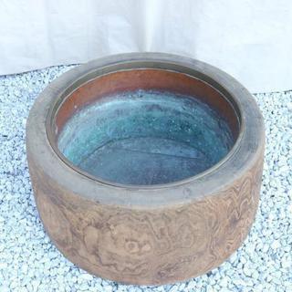 年代不明 レトロ 火鉢 銅製