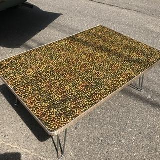 昭和レトロポップ アンティーク 古民家蔵出し 木製テーブル ちゃぶ台