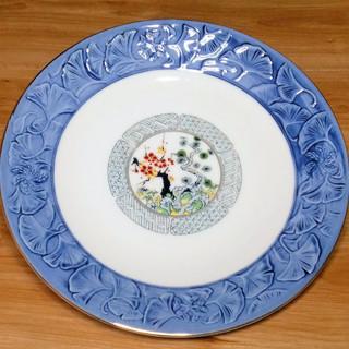 ★未使用★梅と松の絵柄の皿★5枚★