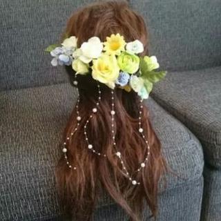 ブライダル花飾り