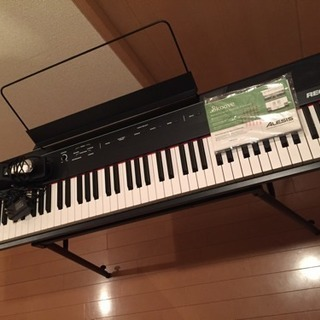 Alesis 88鍵 電子ピアノ フルサイズ・セミウェイト 鍵盤...
