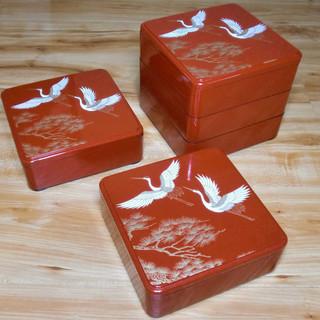 【無料】★重箱★5段セット★無料出品物の複数のお持ち帰りも歓迎です♬
