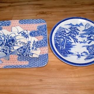 【無料】★大きな角皿と大皿 計2枚★