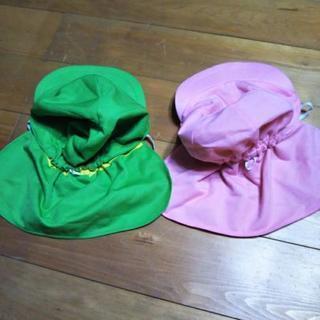 [美品]  日除け付き帽子  (ピンクのみです)