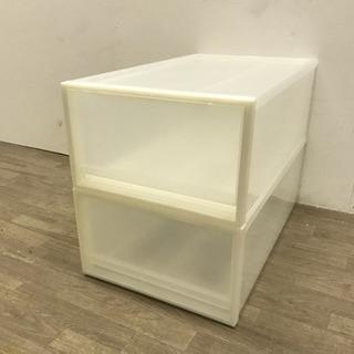 011019☆来店引取価格!無印良品  衣装ケース2個セットホワイト