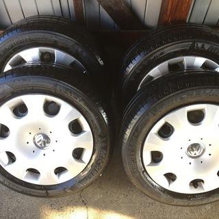 【値下げ】VWビートルのラジアルタイヤ新品同様4本10000円取...