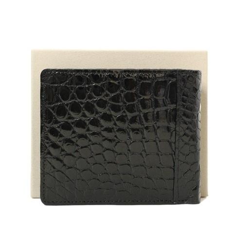 e8f99a527235 財布 メンズ 二つ折り クロコ ブラック シャイン 国内縫製 150304 - 服/ファッション