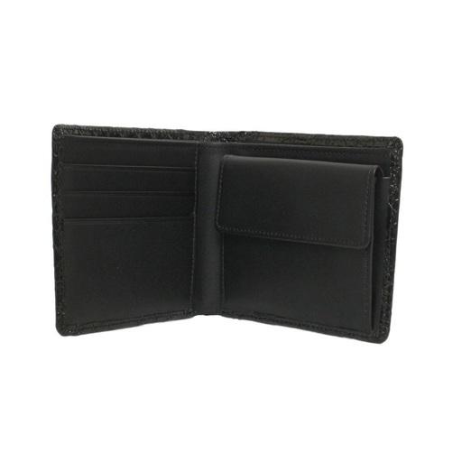 eb7762f6e3cd 財布 メンズ 二つ折り クロコ ブラック シャイン 国内縫製 150304 - 大阪市