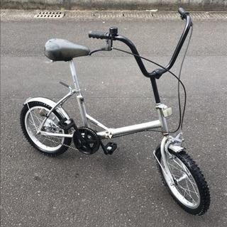 【売り切り】メーカー不明・16インチ・折りたたみ自転車・中古