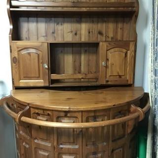 木製バーカウンター