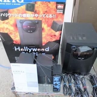 ☆オンキョー ONKYO GXW-5.1 5.1chデジタルサラウンドセット◆リビングをシアターにの画像