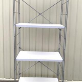 スチール製 収納棚 ランドリー収納 キッチン収納 高さ調整可能