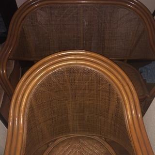 藤の椅子3点