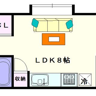 【コンソラーレ難波】1号タイプ!1LDKタイプ!角部屋やん♪