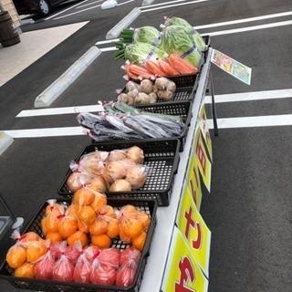 肉炉端 うまいもん前で、野菜100円販売中! − 鹿児島県