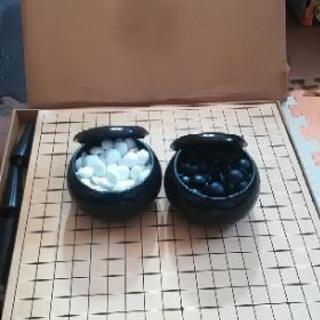 囲碁 碁盤、碁石セット