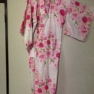 お値下げ ー 浴衣  ピンク