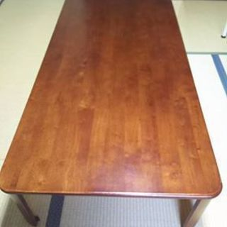 『天然木 座卓 ローテーブル 折りたたみ式』