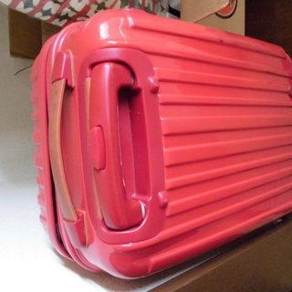 ハードスーツケース 赤 中古
