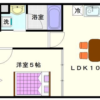 【サンクレスト】5号タイプ!1LDKタイプ!明るい室内で快適☆