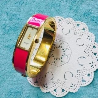 ケイトスペード  バングル腕時計❤️ゴールド×ローズ