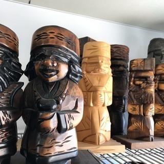 アイヌ人形 木彫り 北海道土産