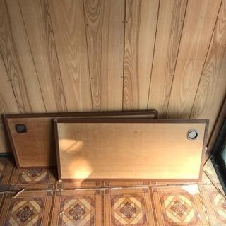 スライド式 木製ドア2枚