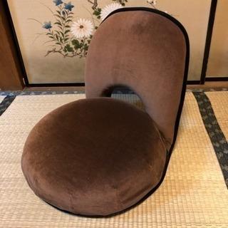 【値下げしました】座椅子 13段階調節可 ブラウン 円形