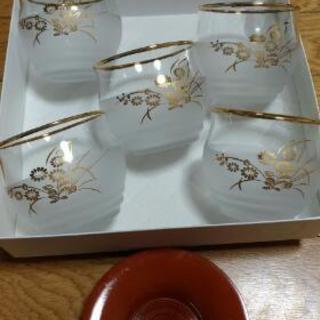 冷茶グラスと茶托5客