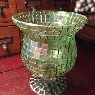 アンティーク モザイク ガラス瓶