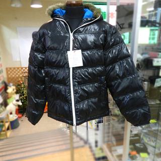 新品 ロット ダウンジャケット XLサイズ ブラック フード・フ...