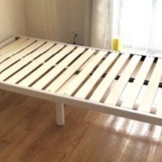 商談中 シングル  すのこベッド  マットレス付き  ホワイト