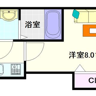 【LUXE難波西Ⅱ】3号タイプ!1Kタイプ!綺麗!!