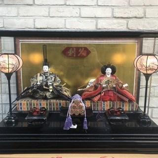 【無料】★利久 ひな人形 ガラスケース付 十番新王【0円】川口市★