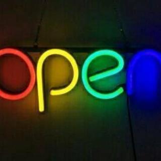4色点灯 オープン看板 ネオンサイン