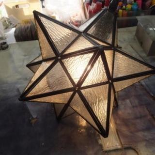 星形 ペンダントライト 型板ガラス