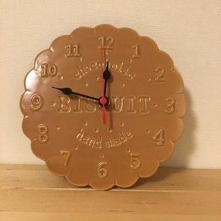 ビスケット型 掛け時計