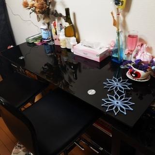 カウンターテーブル、椅子セット