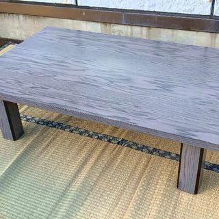 グレイ系のローテーブル 座卓 120×75.5×高さ22.5cm ...