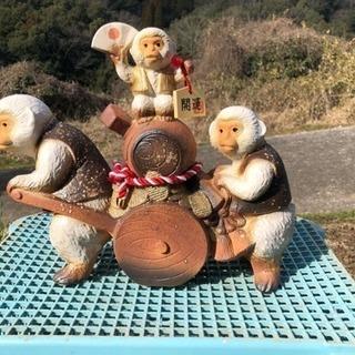 信楽焼 猿の置物