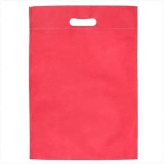 不織布バッグ40 小判抜き A4縦 印刷無し 紺と赤 あげます