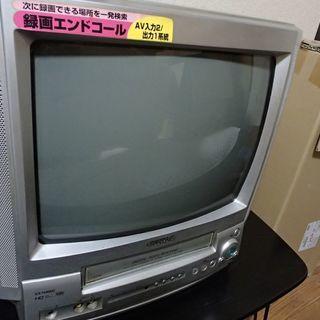 アイワ製VHS内蔵ブラウン管テレビデオ