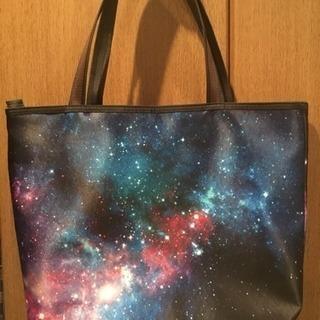 [新品] 宇宙柄トートバッグ