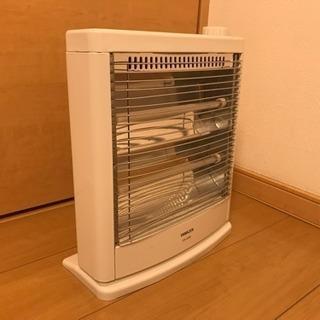 山善 電気ストーブ(800W/400W 3段階切替) ホワイト D...