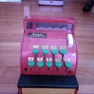[昭和レトログッズ]ブリキのレジスターのおもちゃ