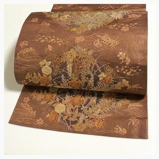 美品【極上 逸品】上質 正絹 菱華 六通柄 袋帯 中古品