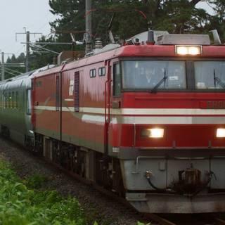 鉄道写真 EH800形+E26系カシオペア
